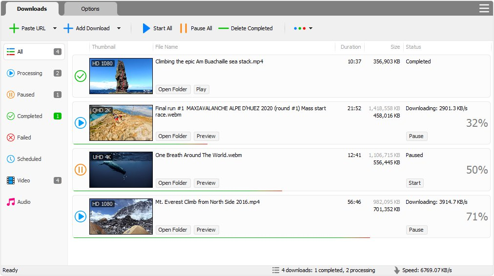 Click to view YouTube Video Downloader Pro 3.8.1 screenshot